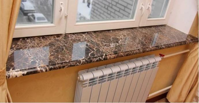 Подоконники из камня - роскошный элемент интерьера по доступной цене