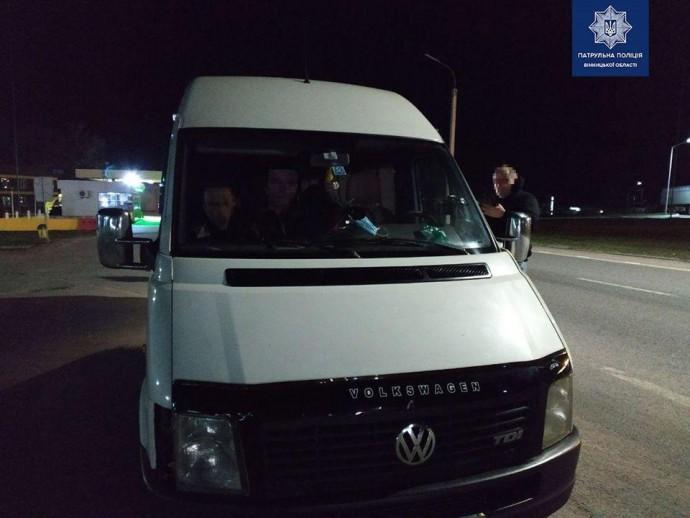 У Вінницькій області зупинили львів'янина, який не дотримався карантину та перевозив пасажирів