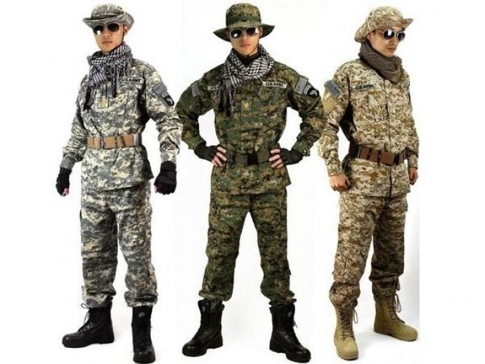 Зимняя, летняя и демисезонная военная одежда