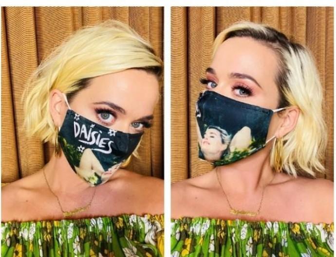 Кэти Перри выпустила коллекцию защитных масок
