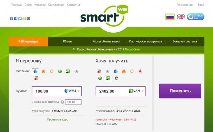 Как обменять деньги онлайн: основные преимущества сервиса Smartwm