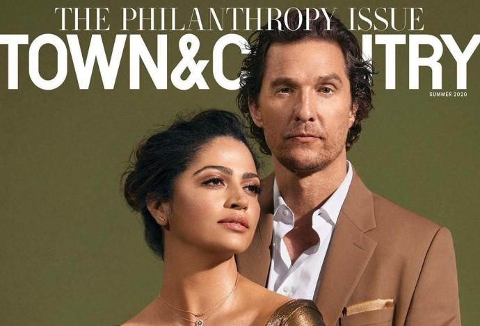 Пара на миллион: Мэттью Макконахи появился на обложке глянца со своей женой Камилой Алвес