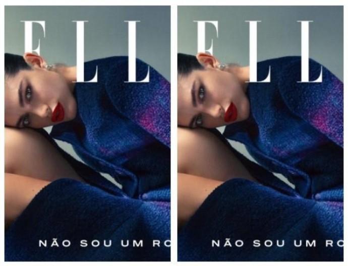 Трансгендерная модель Валентина Сампайо впервые появилась на обложке бразильского журнала Elle