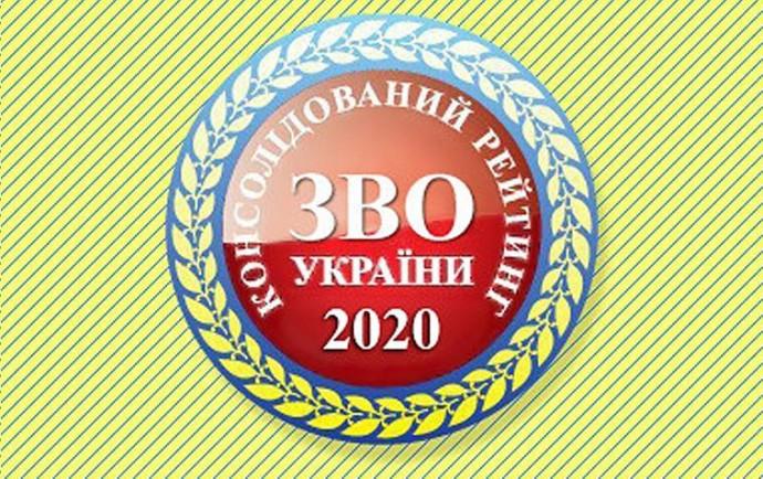 Консолідований рейтинг закладів вищої освіти України 2020 року: два вінницькі університети увійшли в ТОП 20