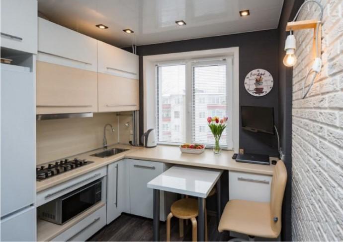 Как выбрать мебель для кухни с небольшой площадью