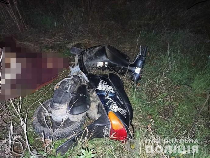У Немирівському районі 49-річний чоловік розбився на мопеді