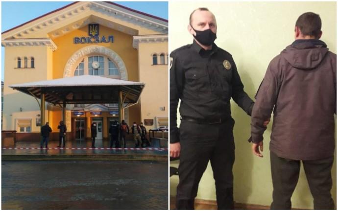 Затримали чоловіка, через якого евакуювали залізничний вокзал у Вінниці