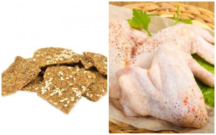 В Україну завезли небезпечні курячі крильця та хлібці з кунжутом