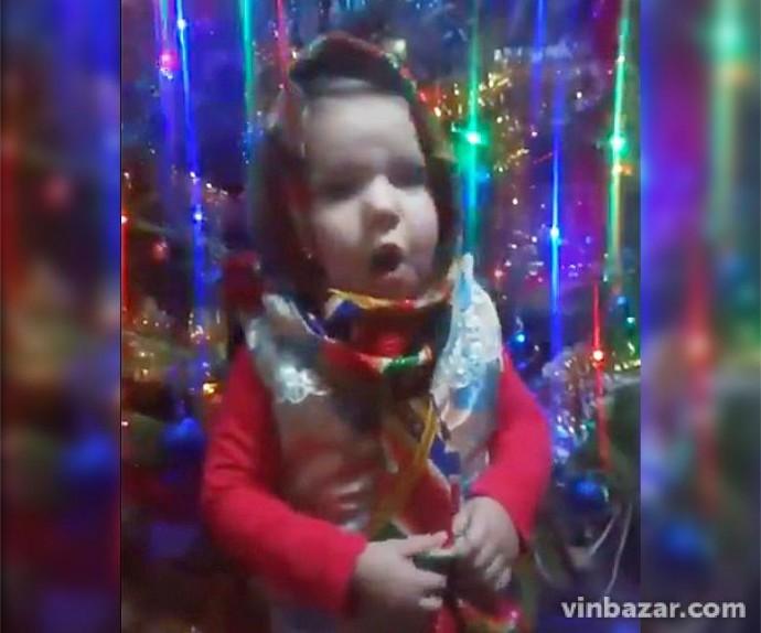 2-річна Анна Панькова з Вінниччини лідирує в аматорському конкурсі колядок (Відео)