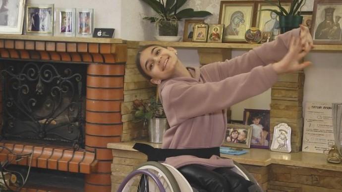 Юна вінничанка перемогла на Чемпіонаті України зі спортивно-бальних танців на візках (Відео)