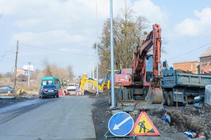 У Вінниці триває капітальний ремонт Сабарівського шосе (Фото)