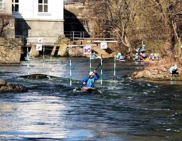 Вінницькій спортсмени зібрали медалі чемпіонату України з веслувального слалому (Фото)