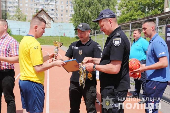 У Вінниці пройшов фінальний матч з мініфутболу серед поліцейських (Фото)