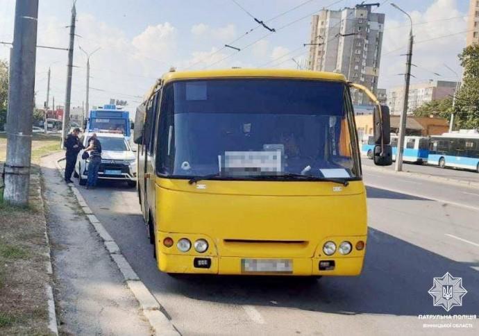 У Вінниці водій маршрутки сів за кермо «під кайфом»