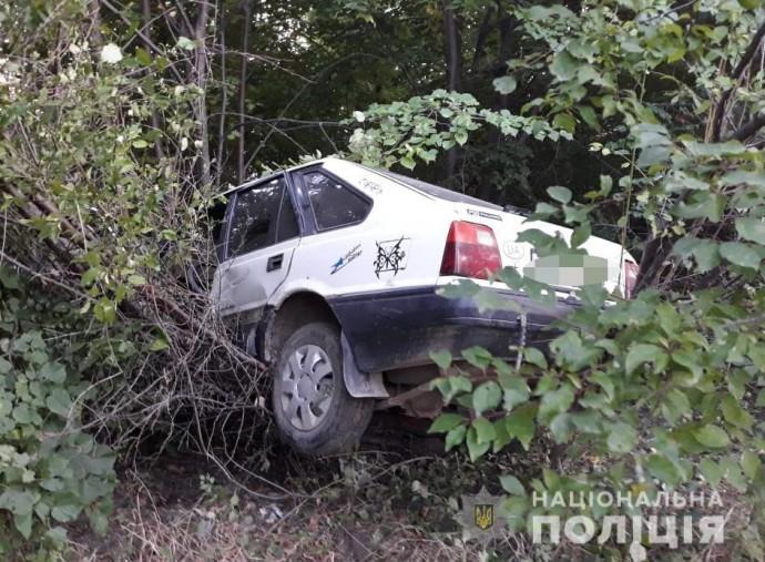 У Жмеринському районі легковик злетів з дороги. Водій загинув (Фото)