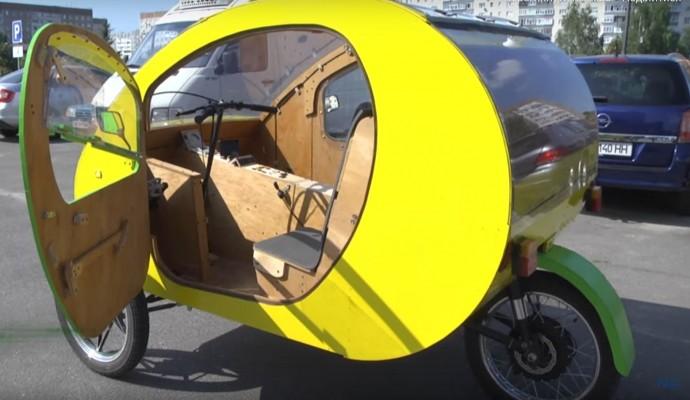 Новый украинский электромобиль удивил дизайном