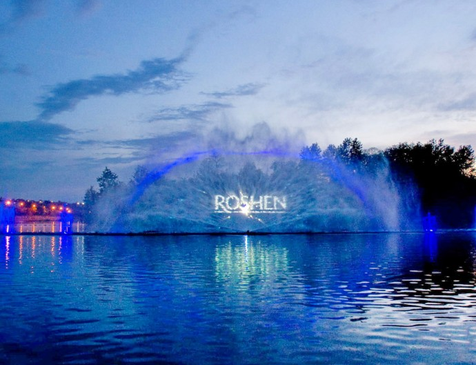 Розклад роботи фонтану Roshen у 2015 році