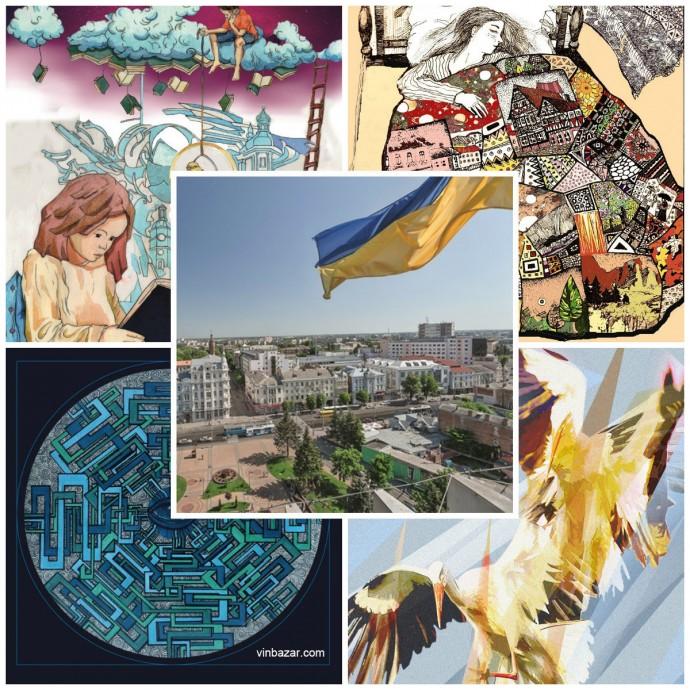 Стало відомо якими малюнками розмалюють будівлі у центрі Вінниці (Фото)