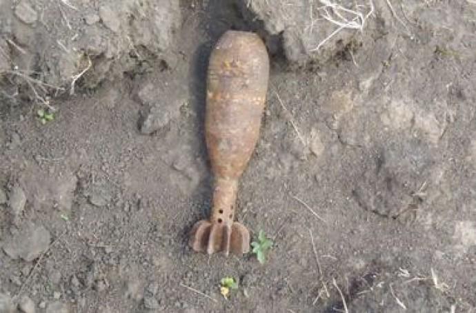 Піротехніки ДСНС знешкодили боєприпас, знайдений поблизу села