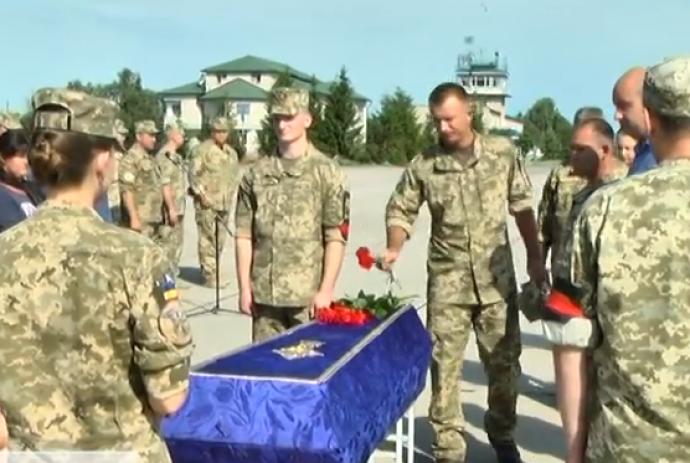 На Вінниччині поховали загиблого в зоні АТО бійця 456-ї бригади транспортної авіації (Відео)