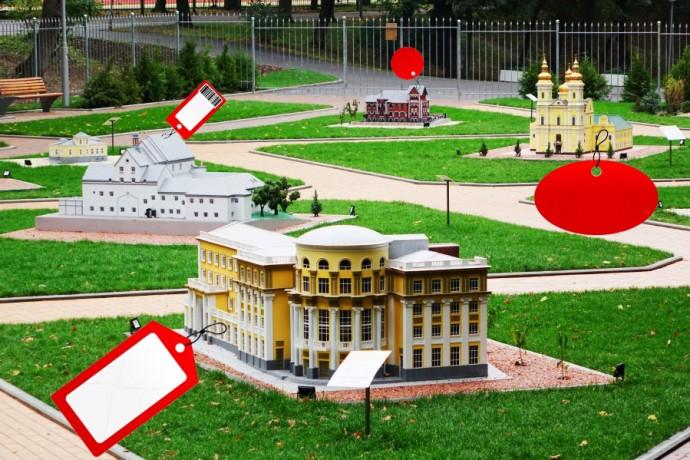Скільки коштує кожна окрема будівля у парку міні-Вінниця (Інфографіка)