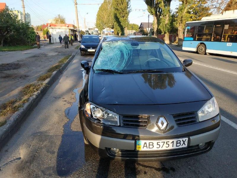 У Вінниці іномарка смертельно травмувала пішохода (Фото+Відео)