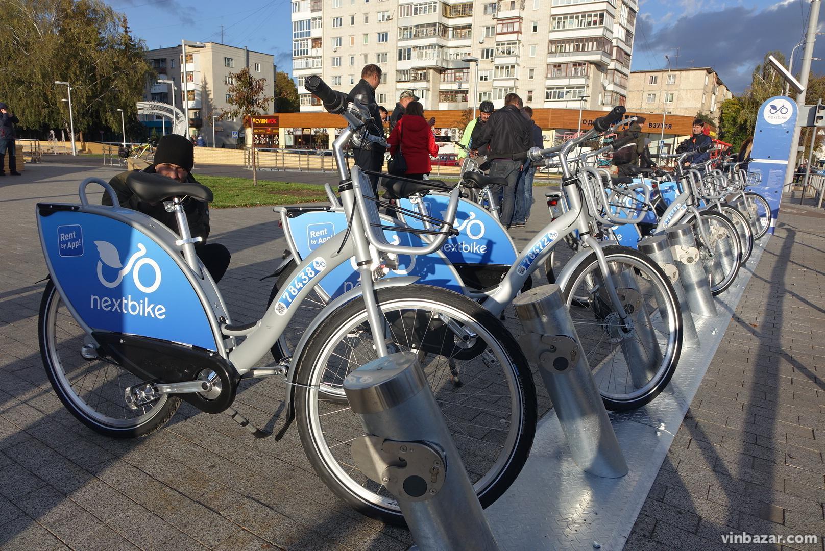 У Вінниці офіційно запустили муніципальний прокат велосипедів (Фото)