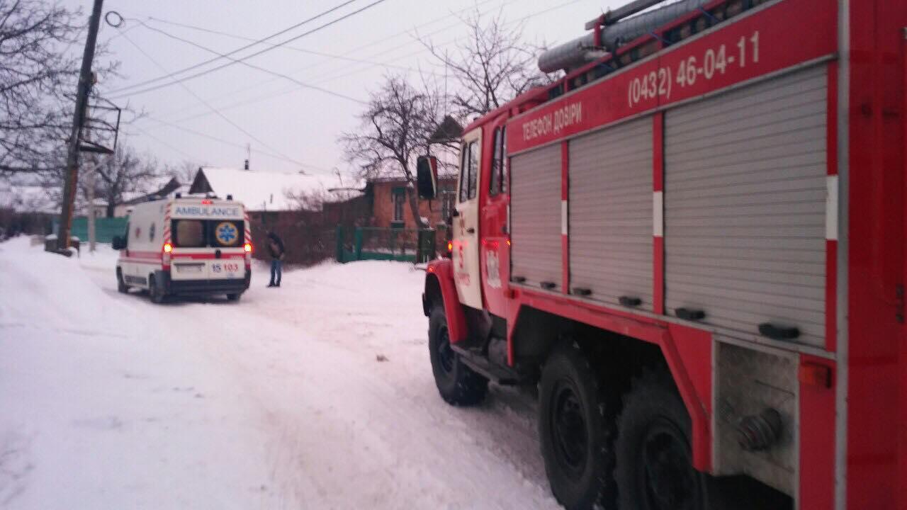 У Вінниці під час пожежі постраждав чоловік (Фото)