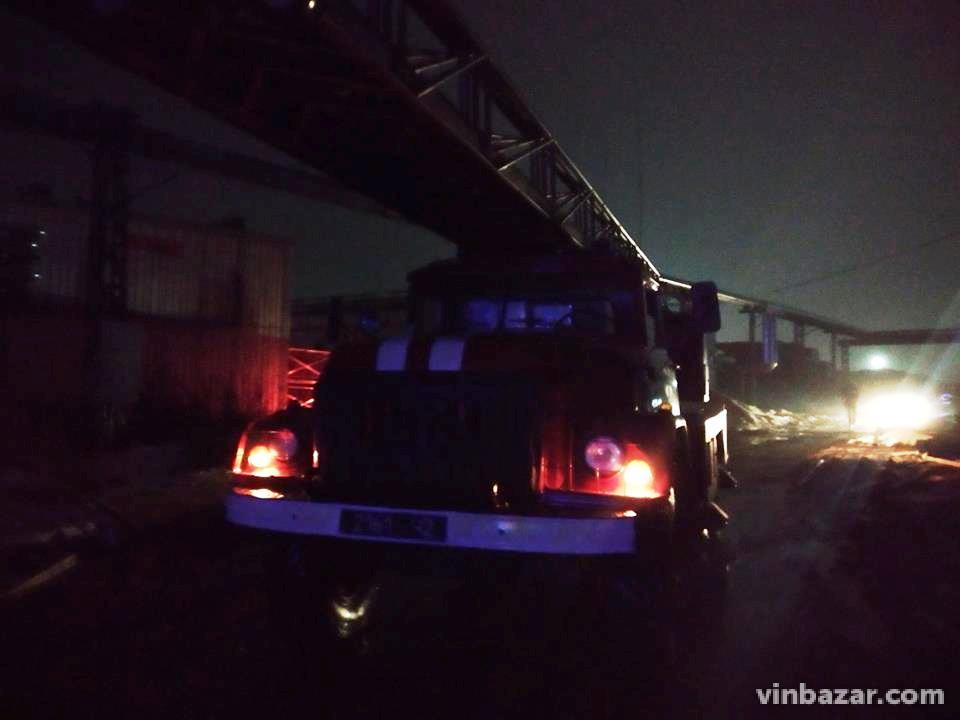 У Вінниці пожежа на заводі Барлінек (Фото+Відео)