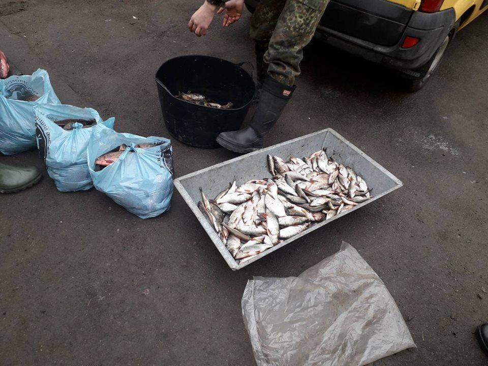 Торгівля без документів та ловля сіткою: на Вінниччині затримали рибалок-браконьєрів (Фото)