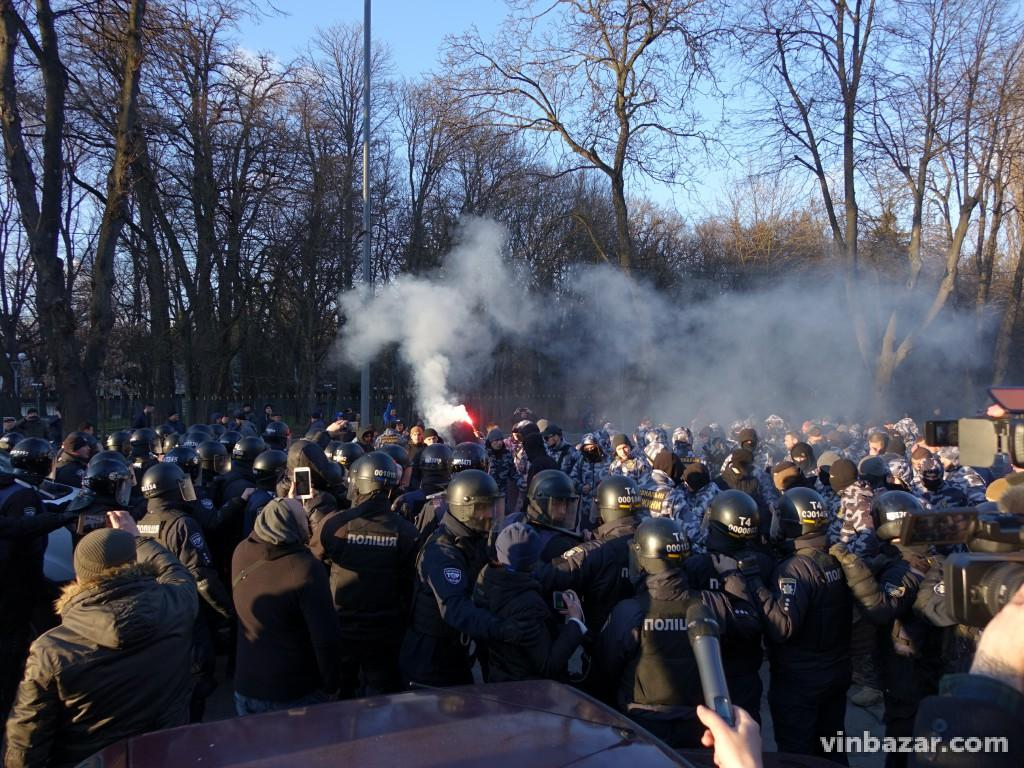 Сутичка Нацдружини з поліцією у Вінниці (Відео+Фото)