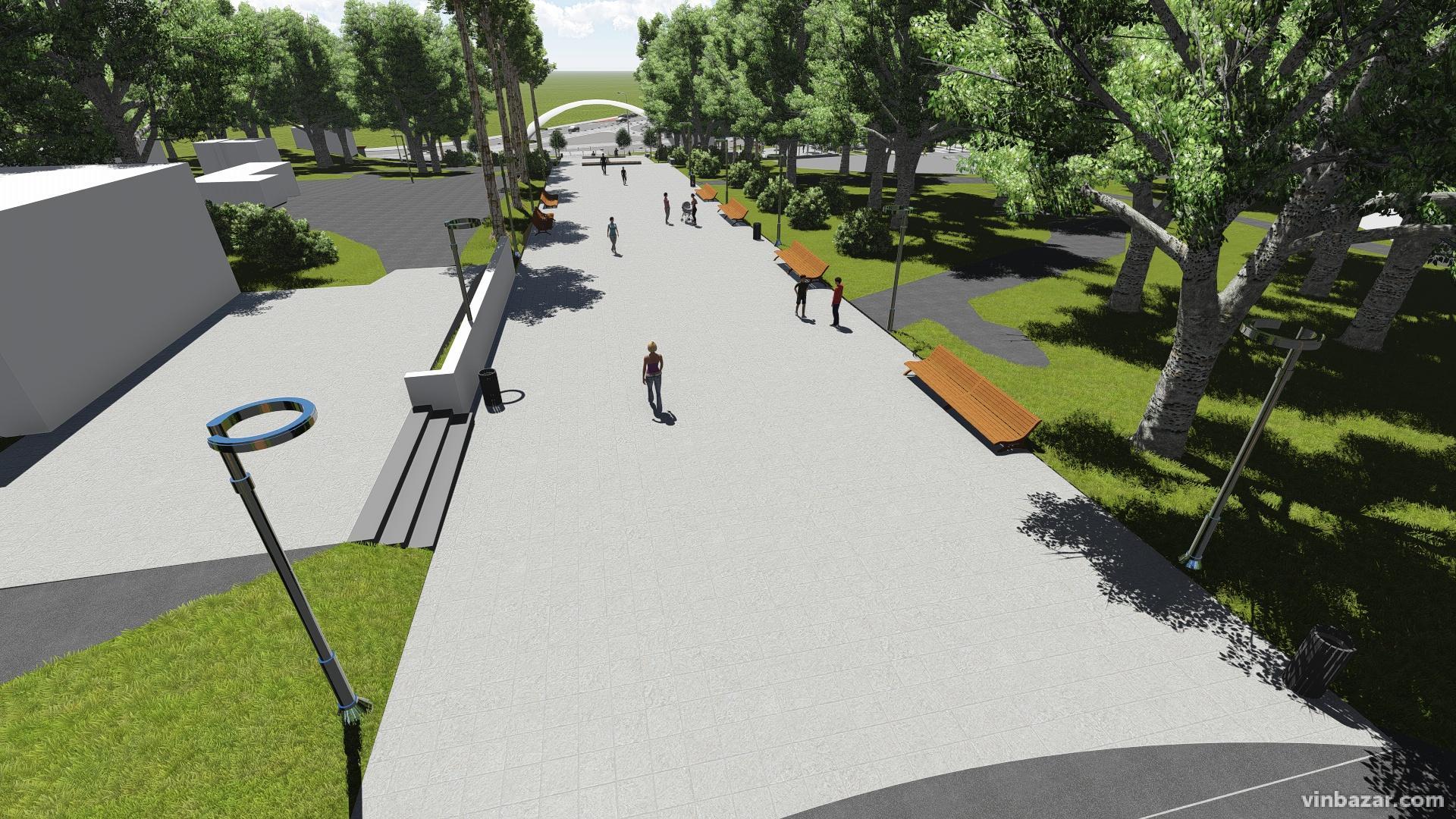 Представили остаточний проект реконструкції входу до Центрального парку (Фото)