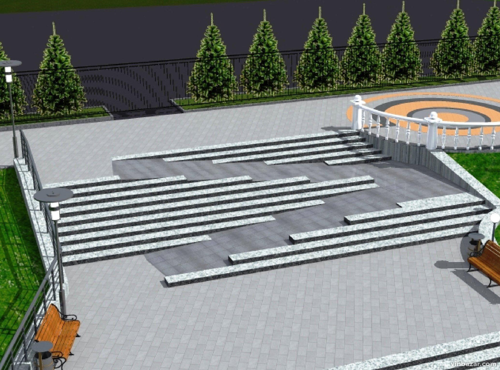 Проект капітального ремонту скверу перед церквою баптистів на Максимовича (Фото)