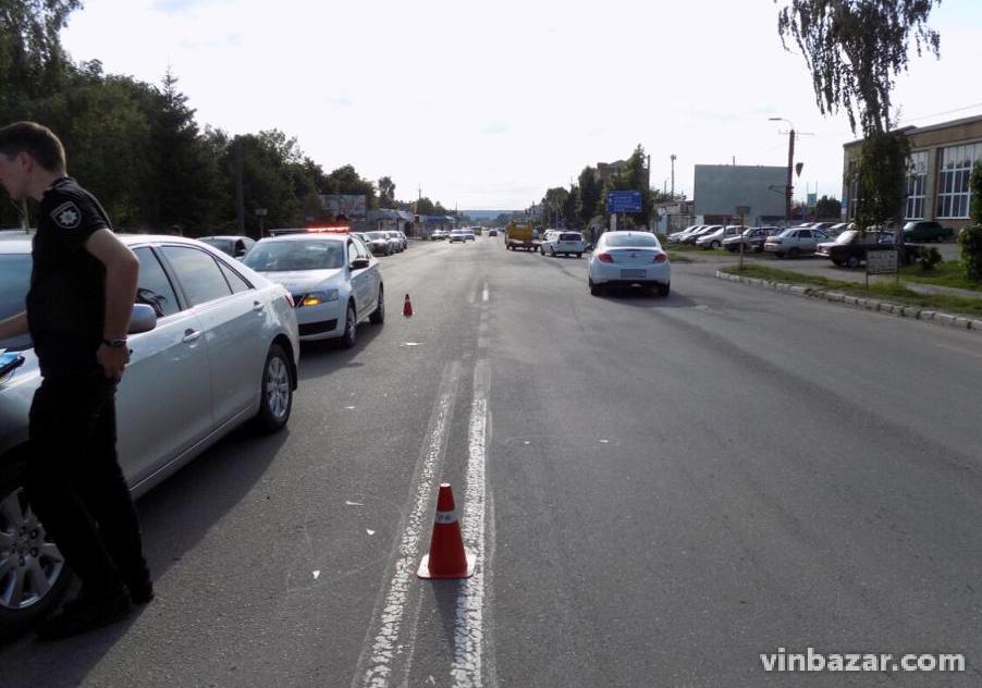 На Вінниччині літній водій збив дитину на пішохідному переході (Фото)
