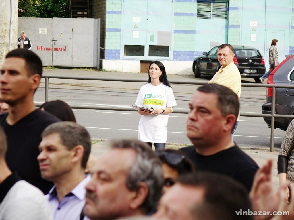 Сергій Притула у Вінниці агітував за партію
