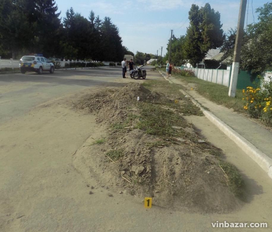 На Вінниччині нетверезий водій мотоциклу потрапив у реанімацію (Фото)