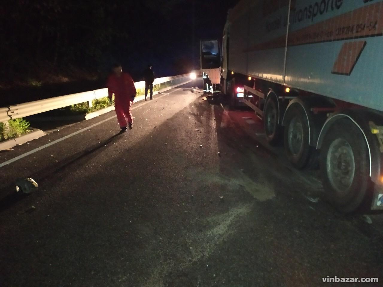 На Вінниччині вантажівки зіткнулась з