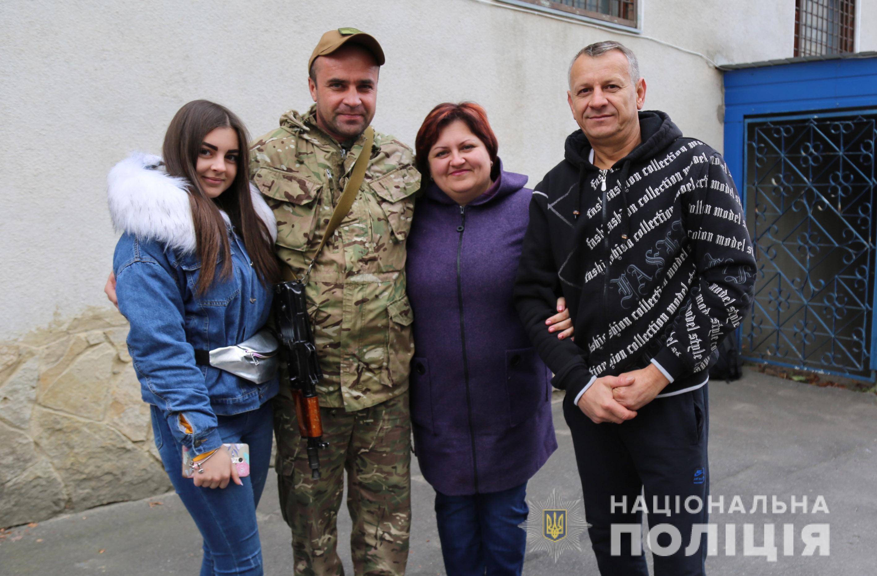 У Вінниці зустріли поліцейських, які виконували завдання в ООС (Фото)