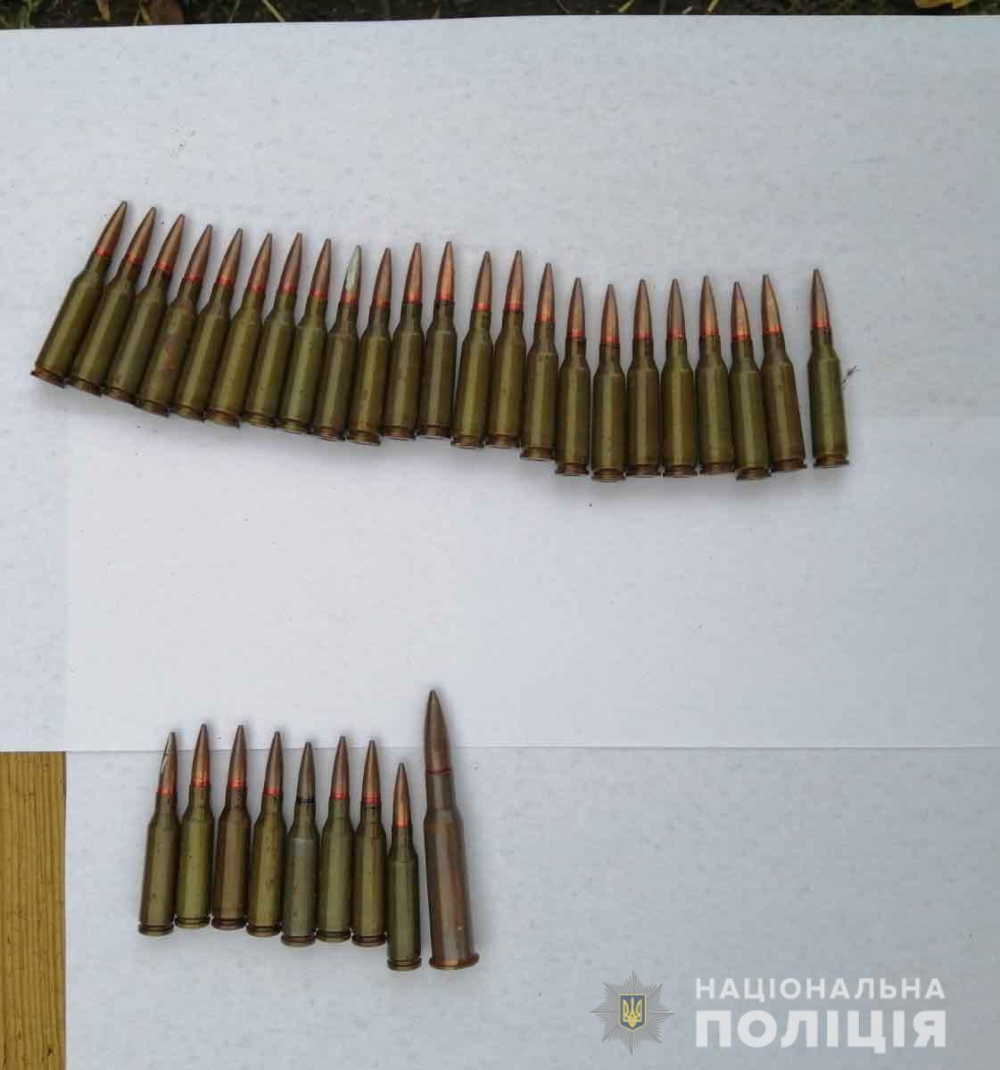 На Вінниччині у місцевого жителя вилучили більше трьох десятків боєприпасів (Фото)