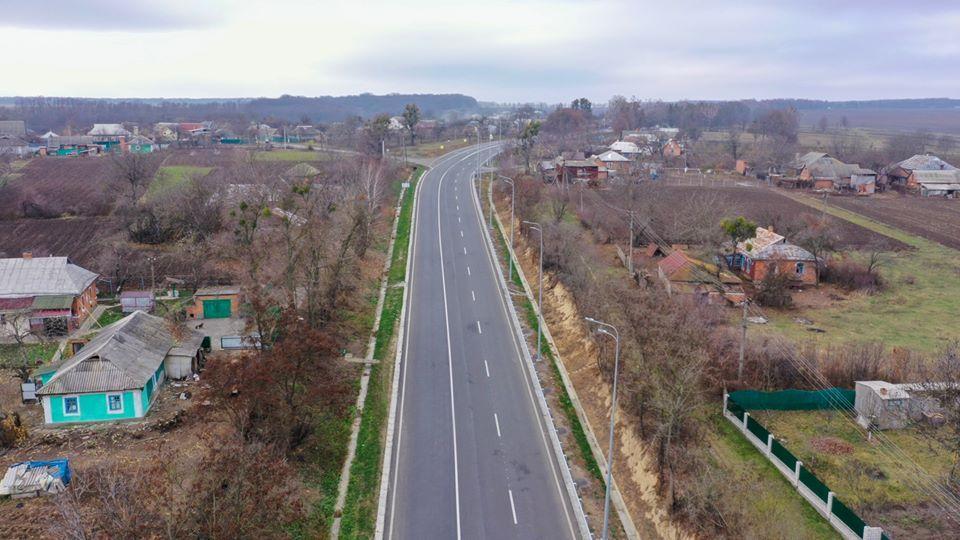 За Гайсином відремонтували частину автошляху, який знаходився у аварійному стані (Фото+Відео)
