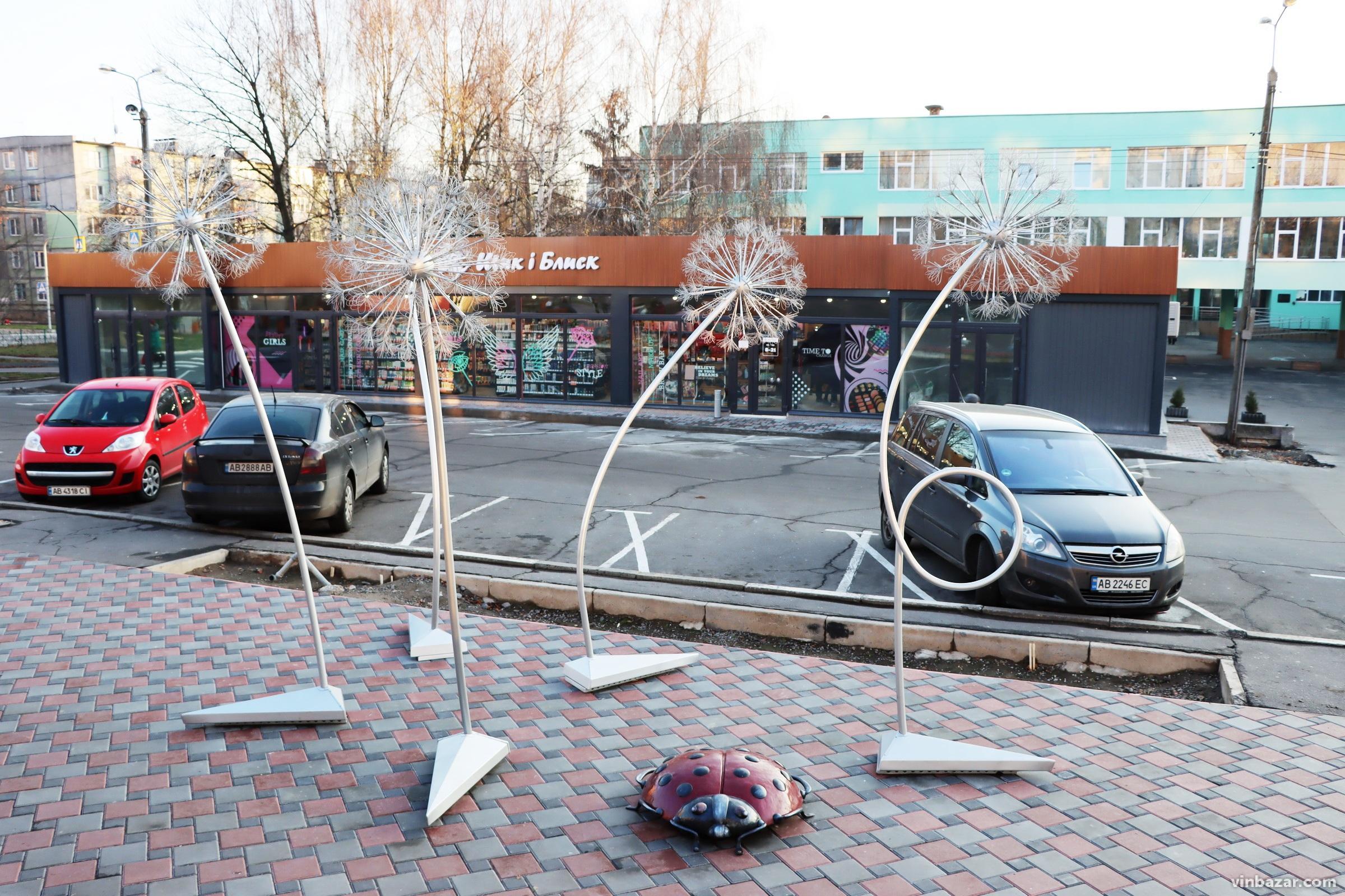 На Вишенці встановили фотолокацію у вигляді кульок кульбаби (Фото)