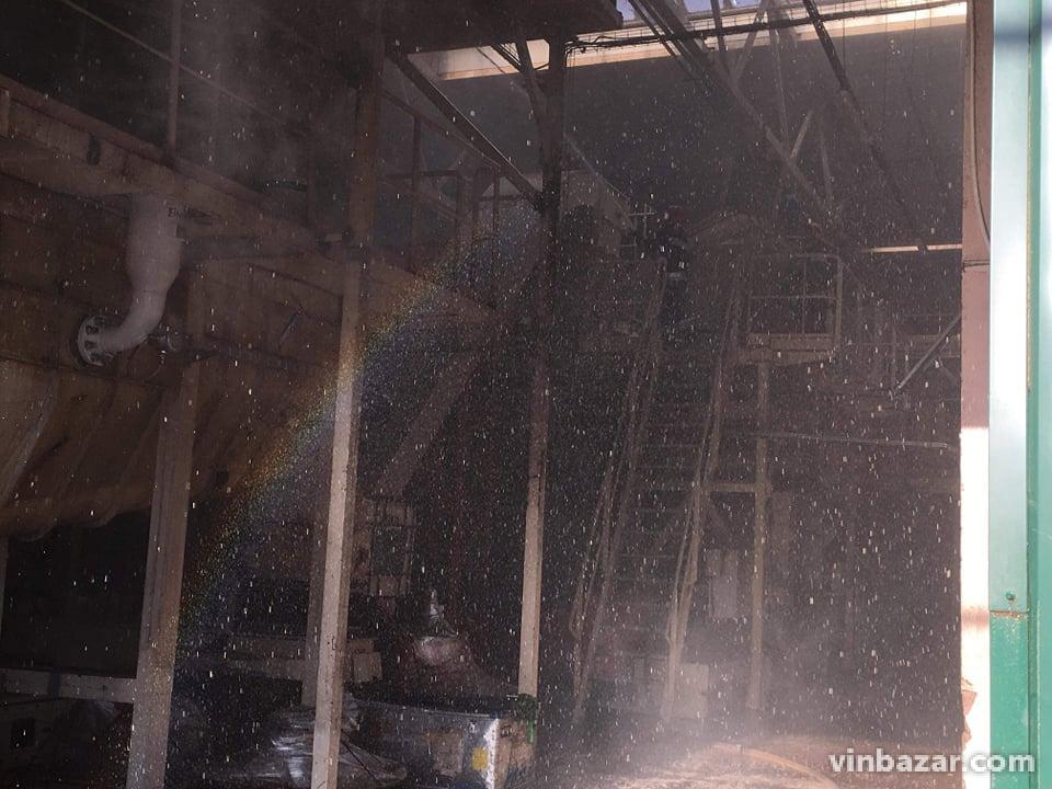 У Вінниці сталася пожежа на заводі Барлінек (Фото)