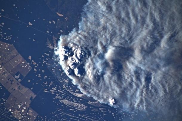 Масштабные пожары Австралии показали с борта МКС