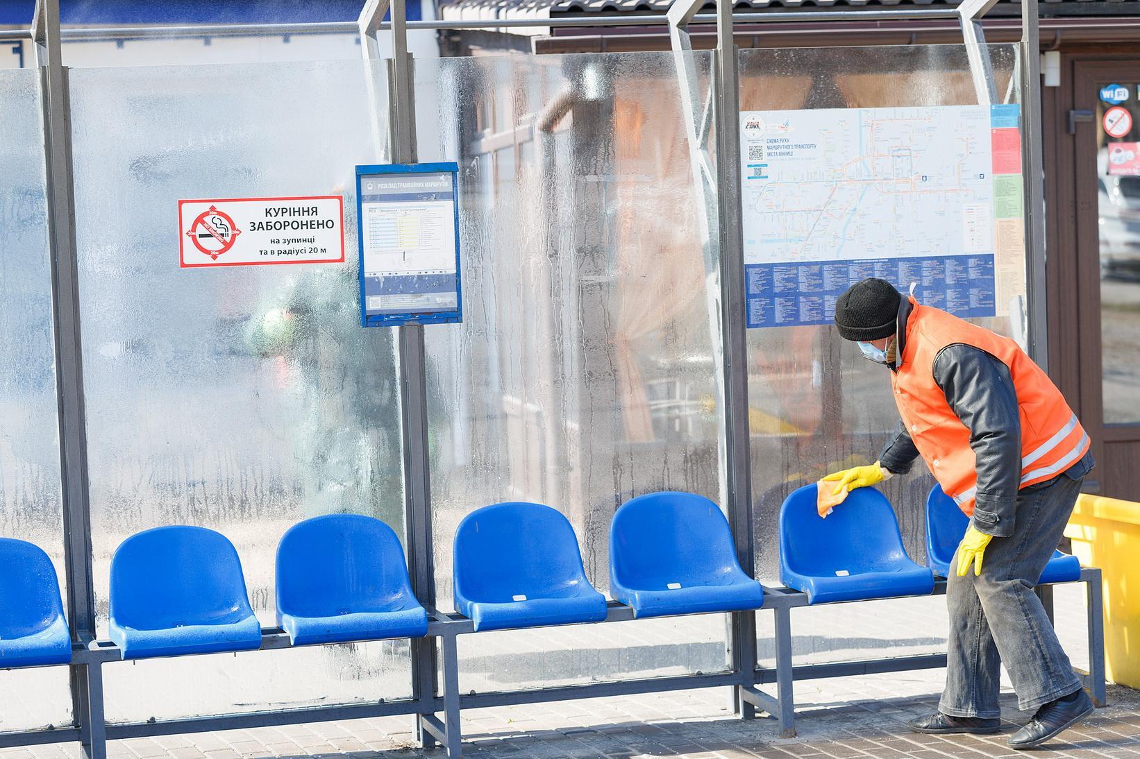 У Вінниці почали дезінфікувати вулиці (Фото)