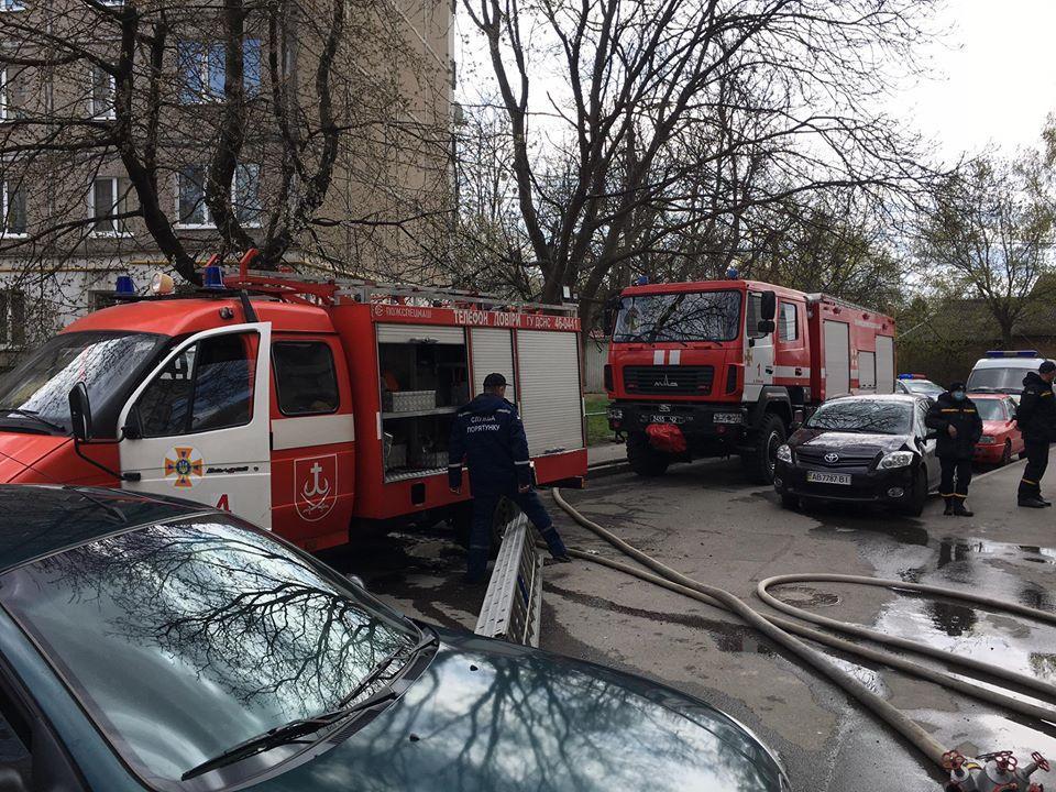 На Електромережі сталася пожежа в дев'ятиповерхівці (Фото)