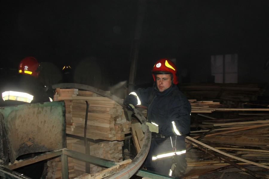 У Вінницькому районі горів деревообробний цех (Фото)