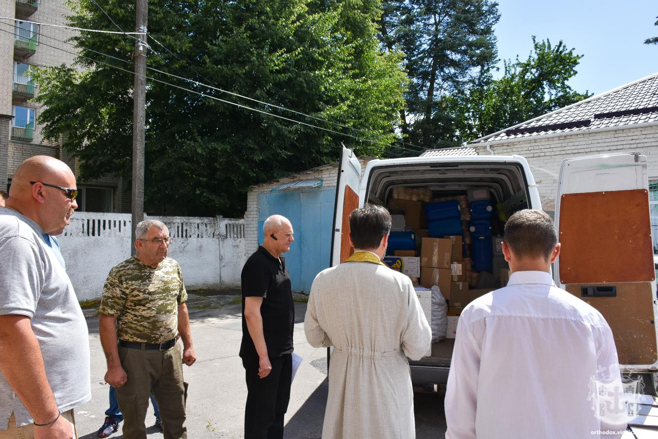 З Вінниці в зону ООС відправили гуманітарний вантаж (Фото)