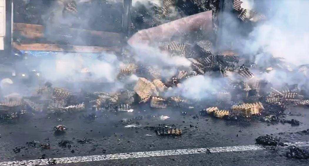 У Козятинському районі на трасі загорілася вантажівка (Фото)