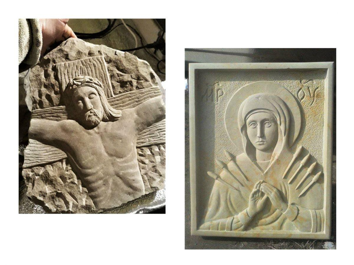 Боєць з Вінниччини створює скульптури та пише картини. Твори дарує побратимам (Фото)