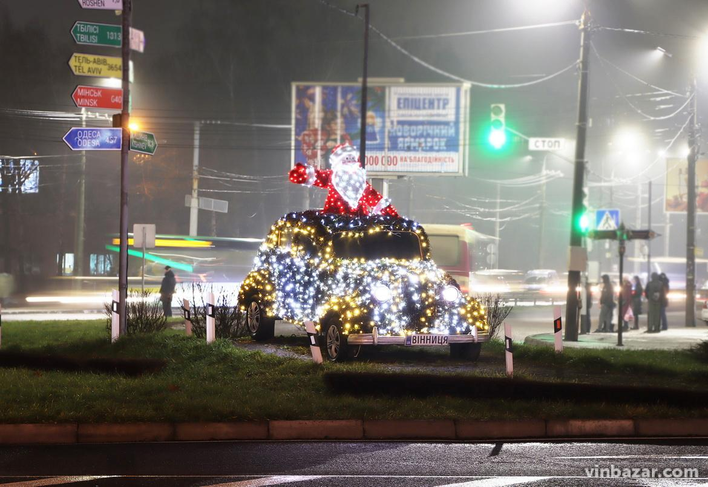 Різдвяна Вінниця без снігу, але з ілюмінацією (Фото)
